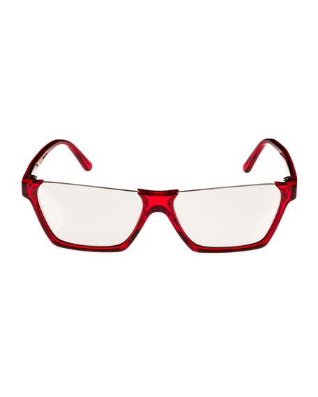 db0731c0f8 Celine Semi-Rimless Rectangular Mirrored Sunglasses