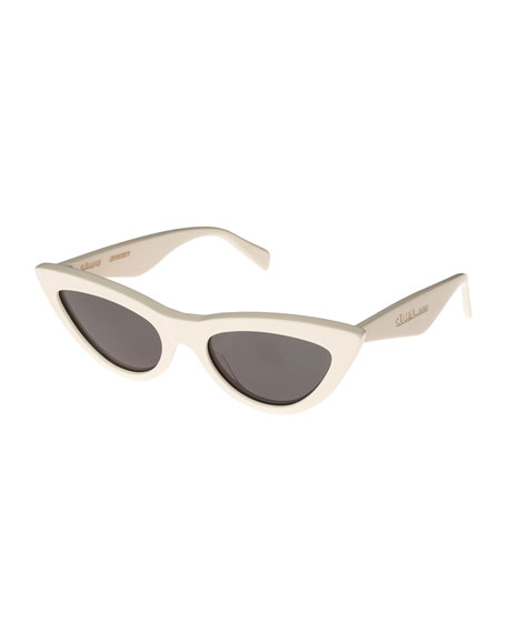 Exaggerated International Fit Cat Eye Sunglasses by Celine
