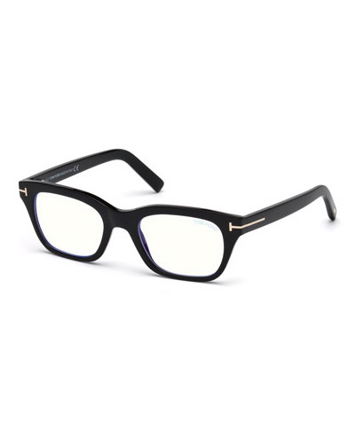 8d92ae843a Blue Light-Blocking Rectangle Acetate Optical Frames Quick Look. TOM FORD