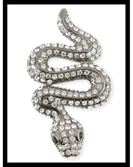Crystal Snake Pin