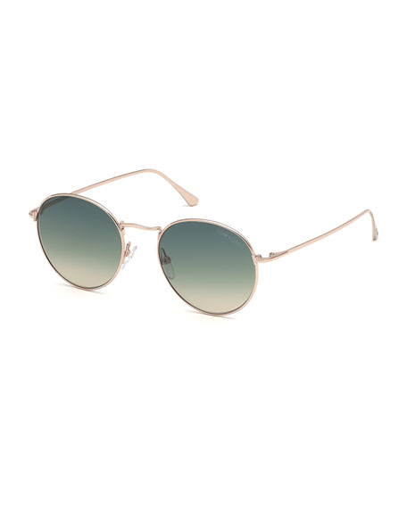 Image 1 of 1: Ryan Round Metal Sunglasses