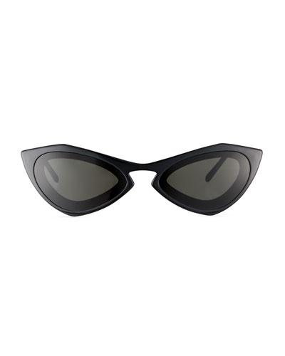 Angular Acetate Cat-Eye Sunglasses