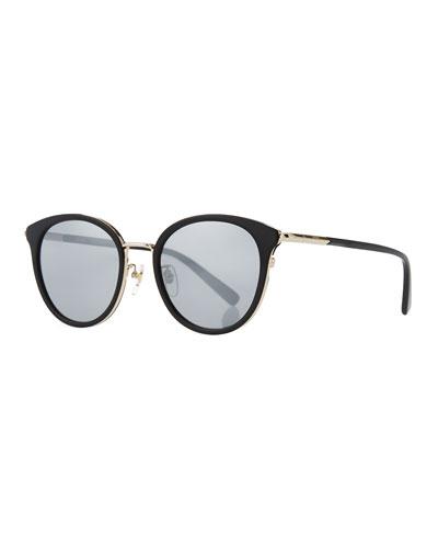 Metal & Acetate Cat-Eye Sunglasses