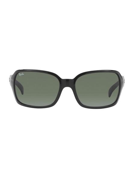 Square Monochromatic Propionate Sunglasses