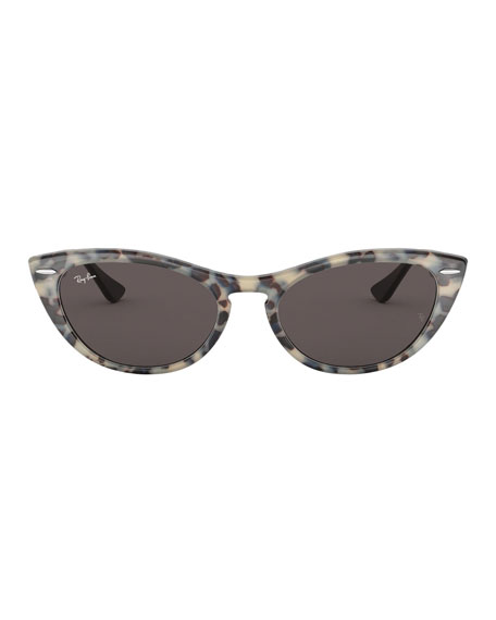 Cat-Eye Monochromatic Sunglasses