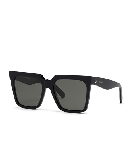 Image 1 of 1: Square Polarized Acetate Sunglasses