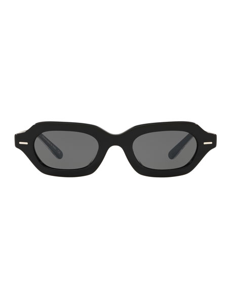 L.A. CC Rectangle Acetate Sunglasses