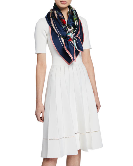 Jacqueline Double Sided Floral Silk Scarf