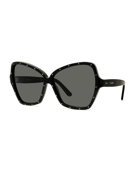 Image 1 of 1: Studded Butterfly Sunglasses