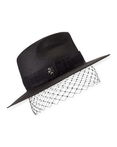 Low Pinched Trilby w/ Veiling