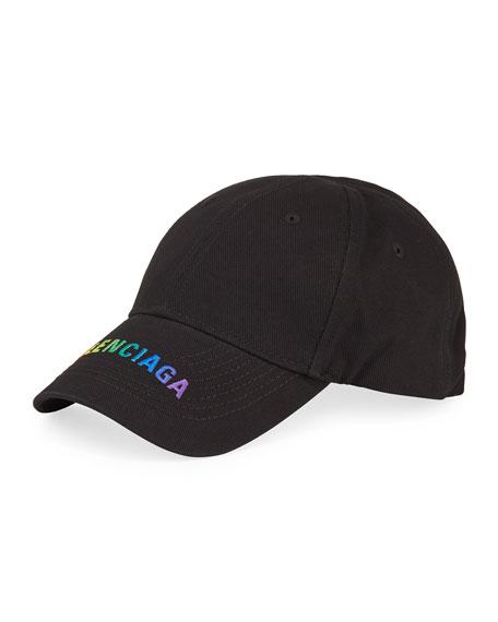 Rainbow Logo Embroidered Baseball Cap