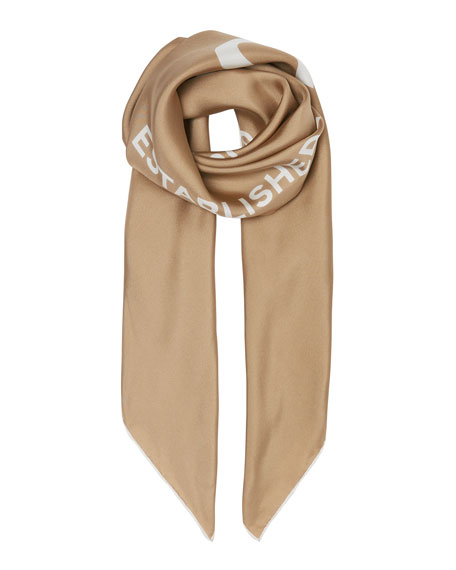 Inverse Horseferry Print Silk Square Scarf by Burberry