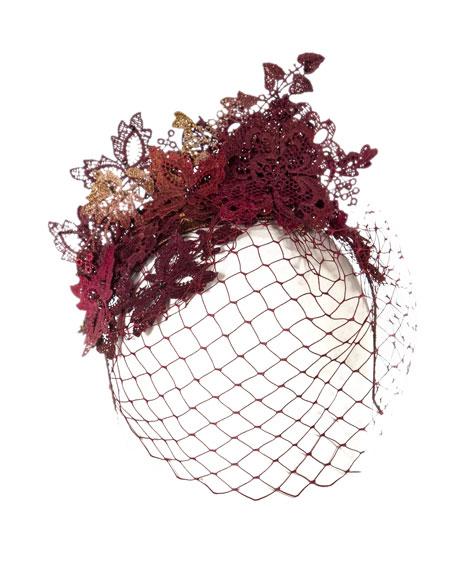 Fox Lace Applique Hat