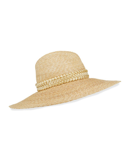 Image 1 of 1: Jeanne Hand-Blocked Straw Panama Hat
