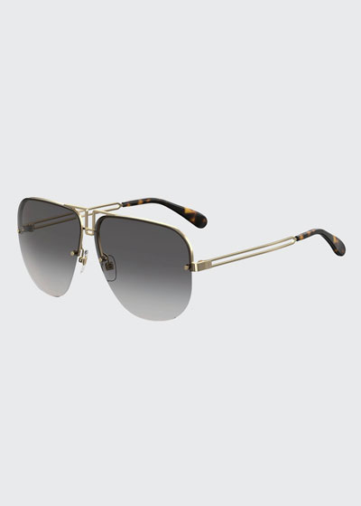 Cutout Metal Aviator Sunglasses