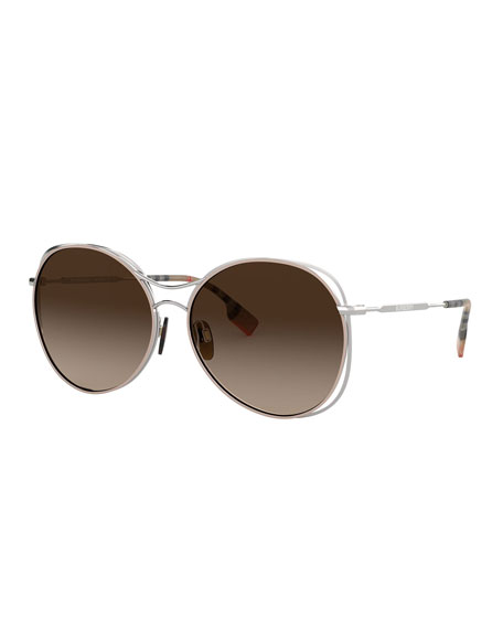 Image 1 of 1: Round Steel Cutout Sunglasses