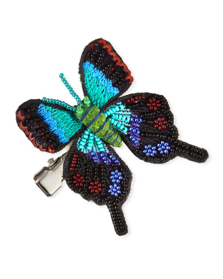 Embroidery Beaded Butterfly Hair Clip