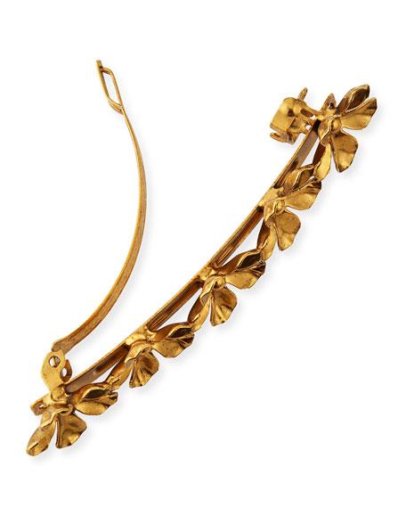 Danni Brass Flower Barrette