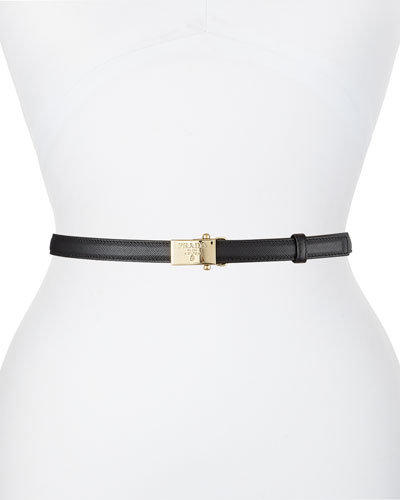 Clip-On Buckle Leather Belt