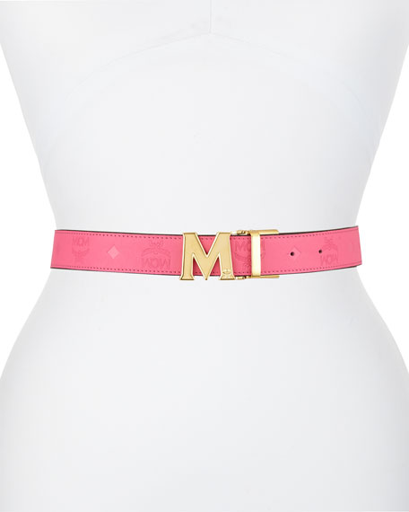 Embossed Leather Reversible Belt