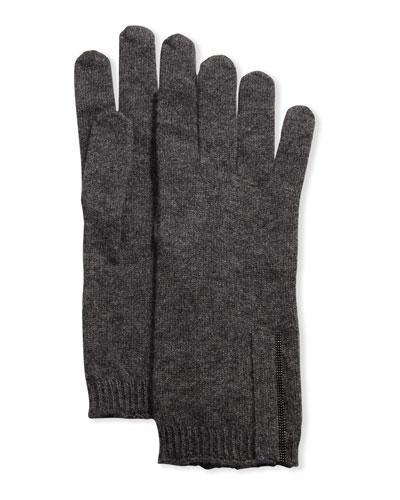 Cashmere Monili-Beaded Gloves
