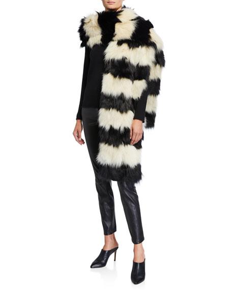 Renard Two-Tone Fox Fur Scarf