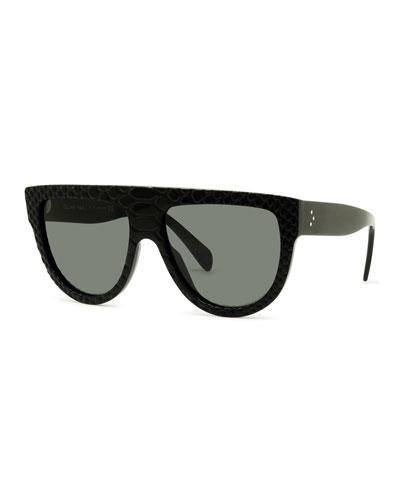 Round Flattop Acetate Sunglasses