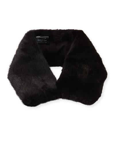 Mink Collar with Detachable Silk Scarf