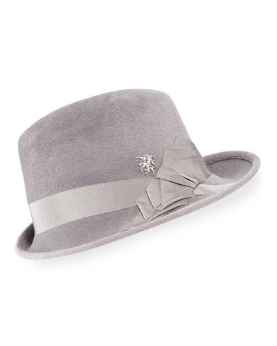 Side Sweep Wool Felt Fedora Hat