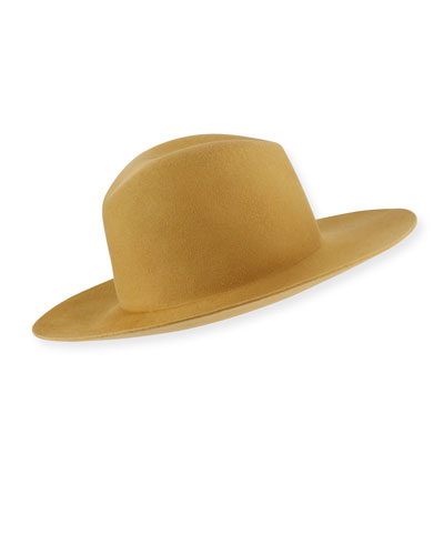 Blair Wool Fedora Hat with Logo Pin