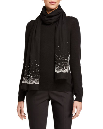 Diffused Sparkle Beaded Cashmere Scarf