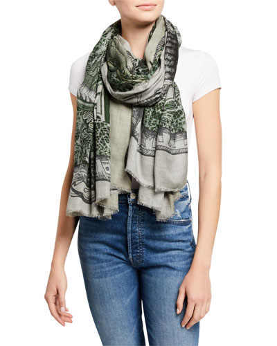 One Dollar Patterned Scarf