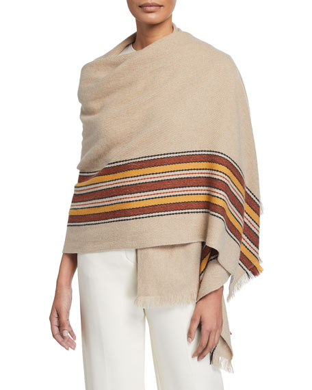 The Suitcase Stripe Baby Cashmere Stole