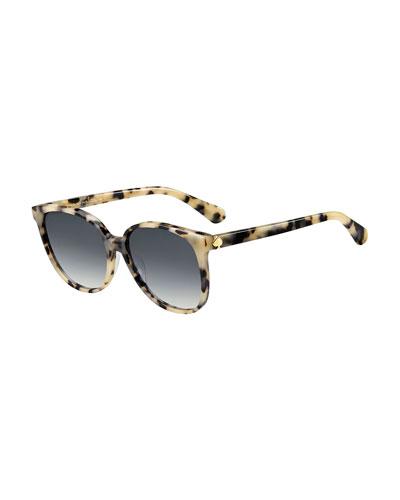 aliannags round acetate sunglasses