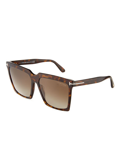 Sabrina Square Plastic Sunglasses