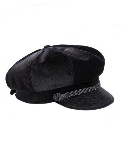 Clara Velvet Newsboy Hat
