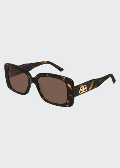 Rectangle Acetate Sunglasses  with BB Temple
