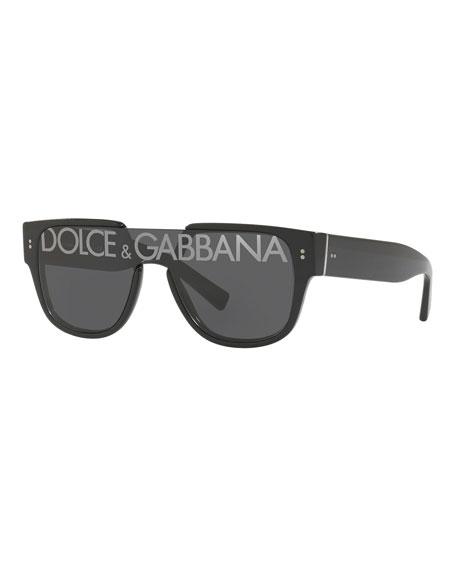 Square Shield Logo Sunglasses