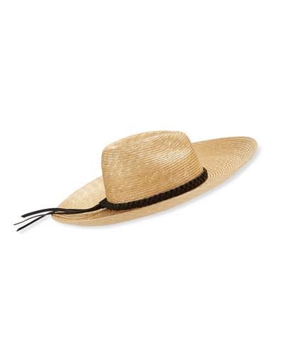 Maxi Mexi Noir Large Brim Straw Hat