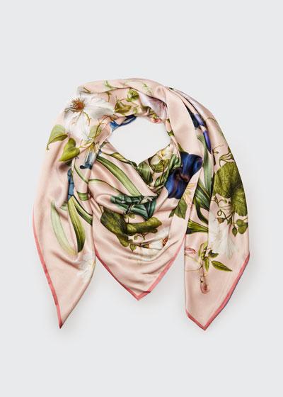 Leah Double Sided Silk Scarf