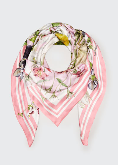 Lydia Lucy Double Sided Silk Scarf