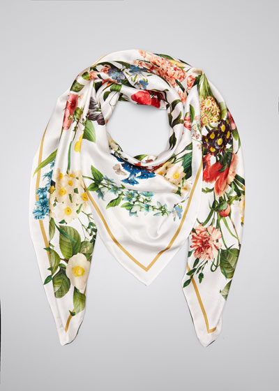 Laura Double Sided Silk Scarf
