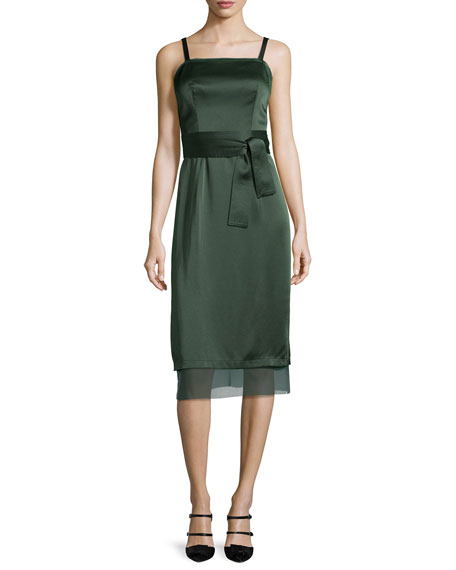 GREY by Jason Wu Square-Neck Double-Satin Slip Dress,