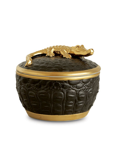 L'Objet Gold Crocodile Candle