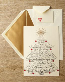 """Bernard Maisner """"O Christmas Tree"""" Christmas Card"""