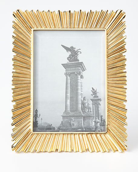 "Ray Gold-Plated 5"" x 7"" Picture Frame"