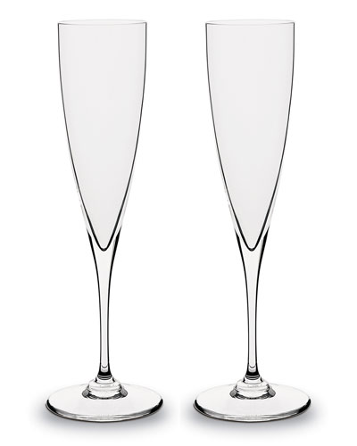 Dom Perignon Champagne Flutes  Set of Two