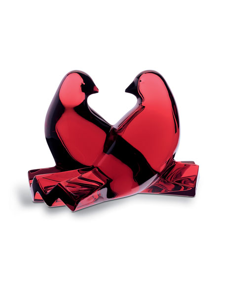 Baccarat Loving Doves, Ruby