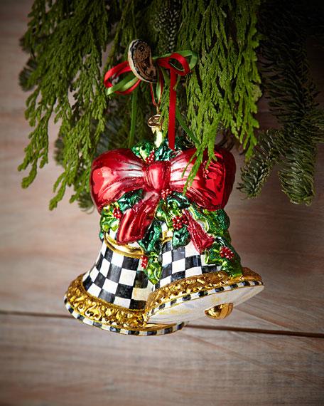 Mackenzie Childs Christmas Ornaments.Noel Bells Christmas Ornament