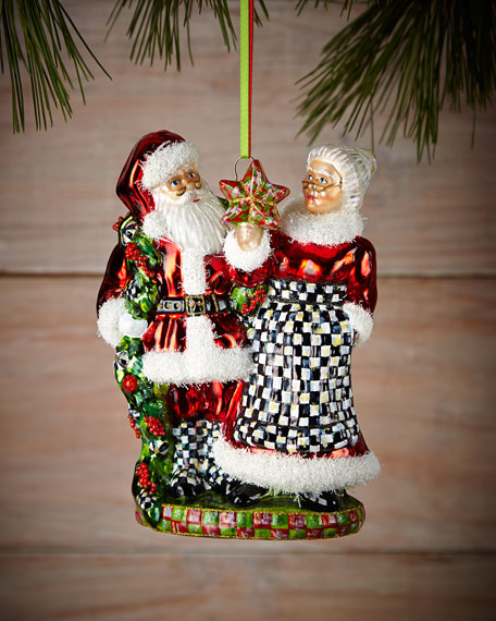 Mackenzie Childs Christmas Ornaments.Mr And Mrs Claus Christmas Ornament